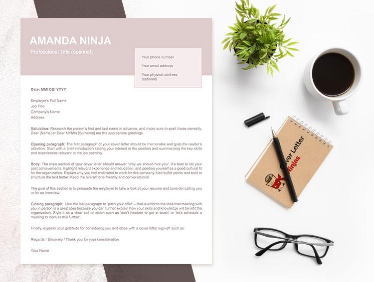feminine cover letter template