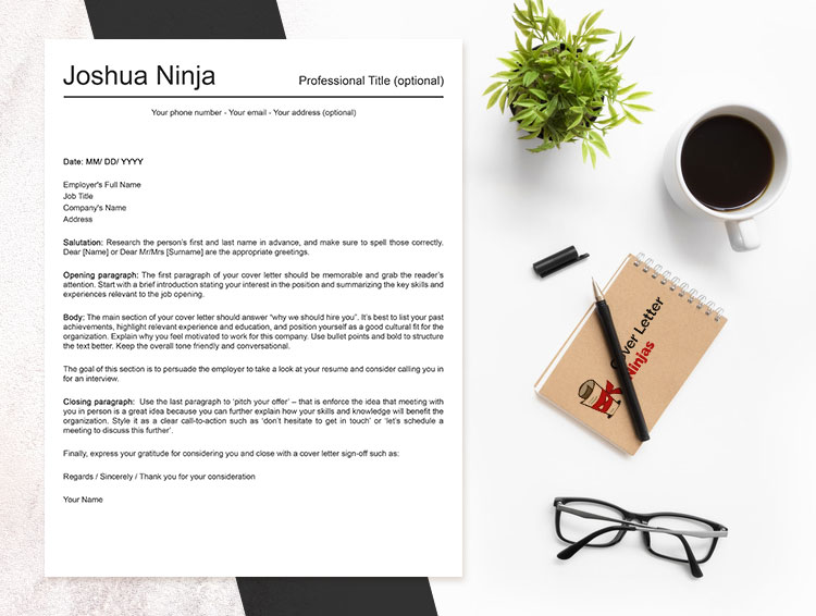 Simple Cover Letter Template - Cover Letter Ninjas