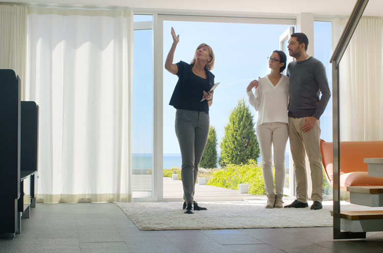 property manager showing home